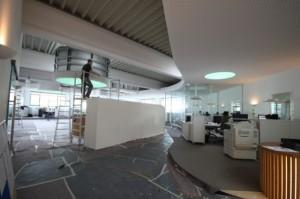 Umbau der Lagerhalle in Büroräume