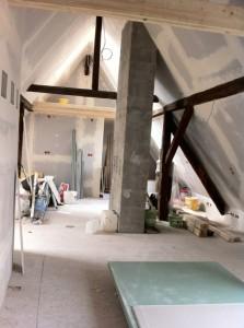 Dachatelier im Bau